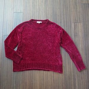 Philosophy Chenille Burgundy Sweater